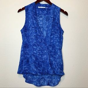 Violet + Claire Blue Sleeveless Blouse